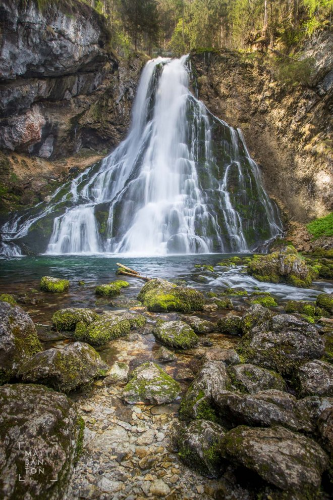 Landscape photo of a waterfall