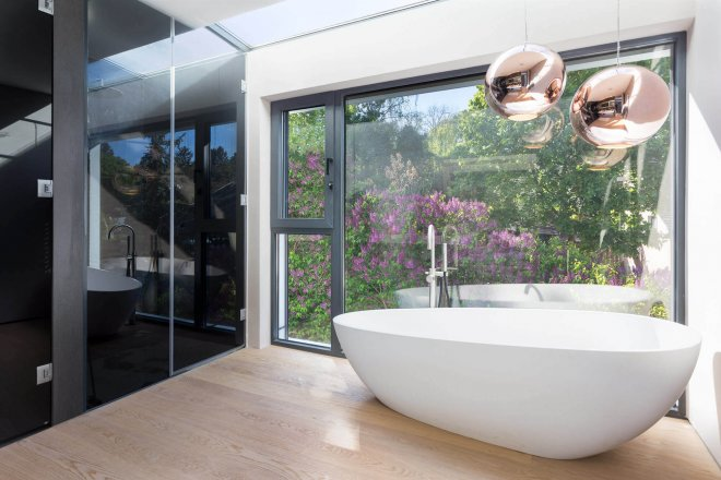 Interior photography of luxury bathroom