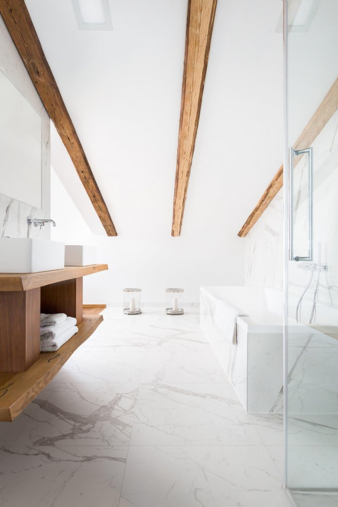 Interior photo of luxury bathroom