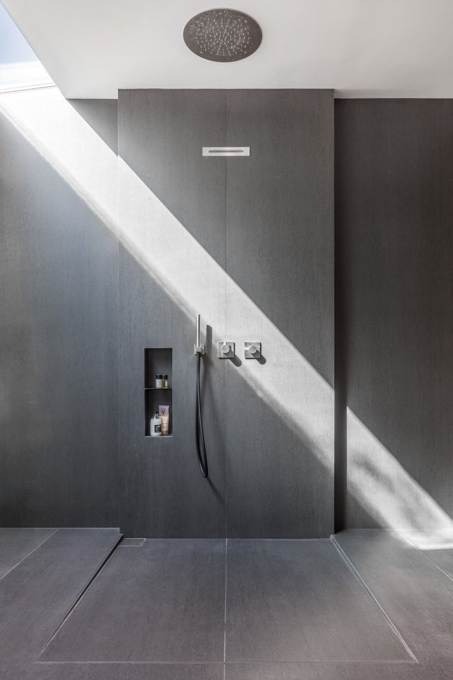 Interior photo of luxury shower