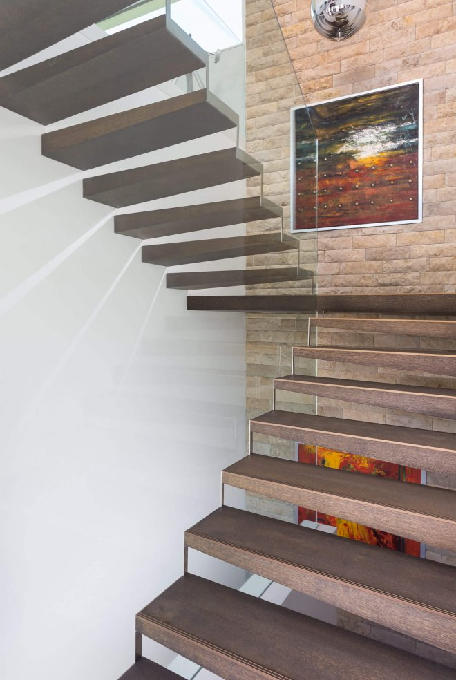 Interior design detail photo of staircase